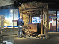 Visitors get an overview of Death Valley National Park at the visitor center.