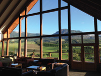 The Coyhaique River Lodge is a place to relax after a day of fishing in Chile.