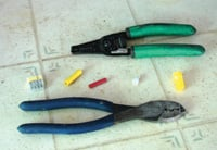 Wiring jobs are made easy by a good wire stripper, crimp tool and the appropriate connectors.