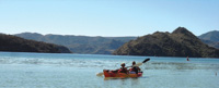 Canoes, kayaks and paddleboards are used to explore the coastline.