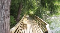 Moutcha Bay Resort on Vancouver Island has chalets, yurts, RV campsites, and a marina.