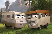 Winnie and Harvey are the featured motorhomes in Planes: Fire and Rescue.