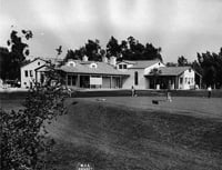 A golf course and park near the Santa Anita racetrack in Arcadia, California, were built with the help of WPA workers.