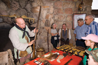 Artifacts are displayed during Heritage Days at the North Rim.