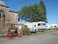 An RV park is adjacent to the Cowboy Café.