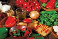 Salsa ingredients can include tomatoes, peppers, onions and much more.