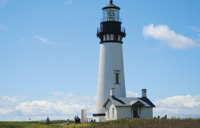 The Yaquina Head Lighthouse is at the north end of Newport.