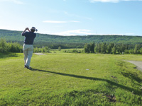 There was plenty of sun for golf in Alaska at 10 p.m. on the summer solstice.