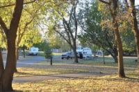 RVers find spacious campsites at the Red Bluff Recreation Area.