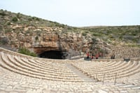 An amphitheater was built for visitors to watch bats fly in and out.