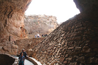 The Natural Entrance Route takes tourists on a steep descent into the cave.