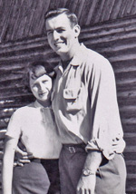 Jack and Sharlene Minshall photographed in 1956.