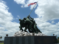 Texas military academy has a full-size replica of the Iwo Jima War Memorial.