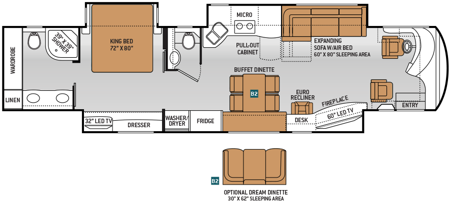 Luxury-Diesel-RV-Tuscany-45AT-Floor-Plan