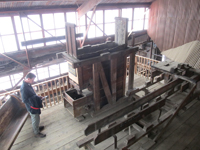 Exhibits inside the Argo Mill explain how gold was processed.
