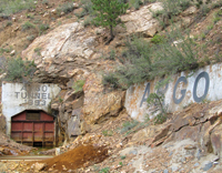 A tunnel was used to bring ore from the mines to the mill.