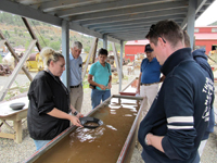 A gold panning lesson is part of the Argo tour.