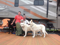 Scott and Kaydee Schermer are traveling full time with four dogs.
