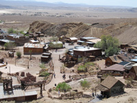 Calico Ghost Town is filled with restored and replicated buildings.
