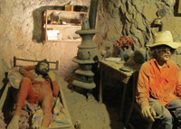 A diorama depicts brothers who worked the Maggie Mine.