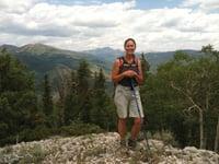 Felicia Pulaski pauses on a back-country hike.