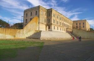 The Alcatraz exercise yard was expansive but bleak.
