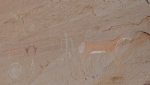 The canyon's history is revealed in pictographs.