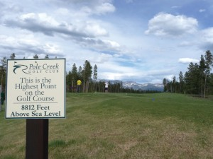 Thin air should help golfers lengthen their drives at this Colorado course.