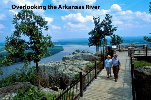 ARLINE Overlooking Arkansas River from Petit Jean State Park