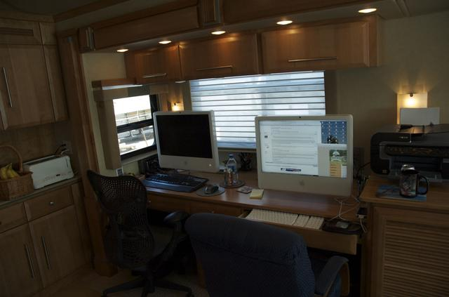 work from RV home office