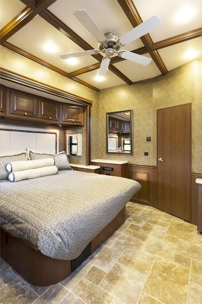 Outlaw 38RE Residential Motorhome Bedroom