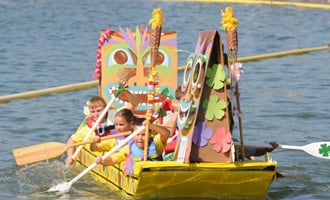 All Ages in Cardboard Boat Races