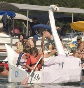 Trumpeter Swan Cardboard Boat