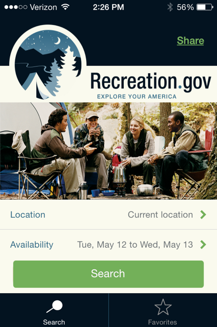 RV Recreation camping app