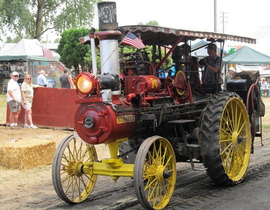 1913 Russell Tractor was used in a sawmill in Oregon. Top speed 23 mph. Weighs 14,500 lbs.
