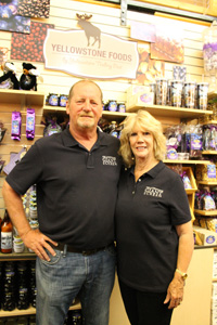 Doug and Rand James, working in Gift Shopt at West Yellowstone's IMAX Theatre