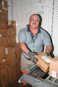Bill Borger loading truck at amazon.com