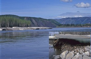 Icebergs along the Yukon