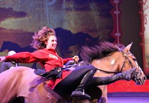 Trick Rider in Wild West Show