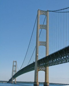 Mighty Mac Bridge in Michigan