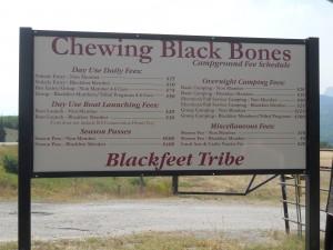 Chewing Black Bones sign