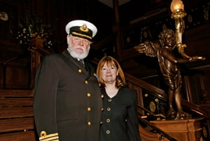 Onboard Character of Captain Edward Smith with Granddaughter of Margaret Tobin Brown
