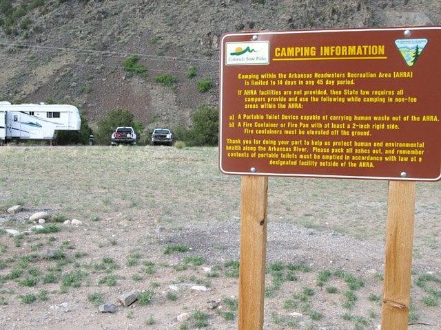 Salida East Colorado free camping