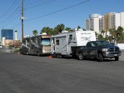 Las Vegas casino camping