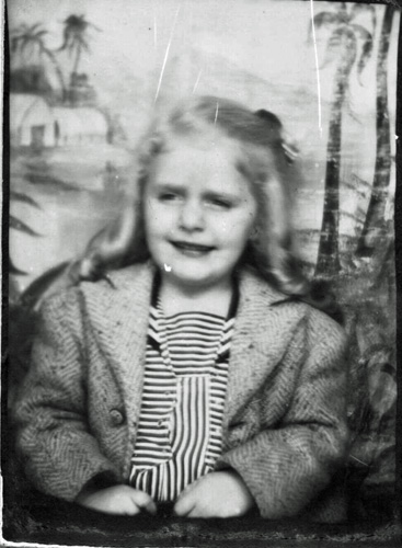 Arline at age four, about the time Tom fisher took her to a movie.