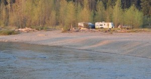 Our River Side Boondocking Site
