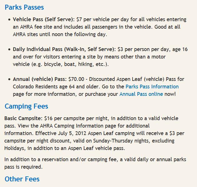 Salida Colorado Free camping
