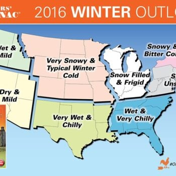 RV snowbird winter weather