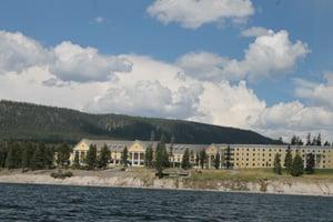 Lake Hotel Viewed from Yellowstone Lake