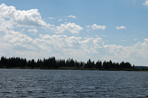 Viewing the Shoreline from Yellowstone Lake